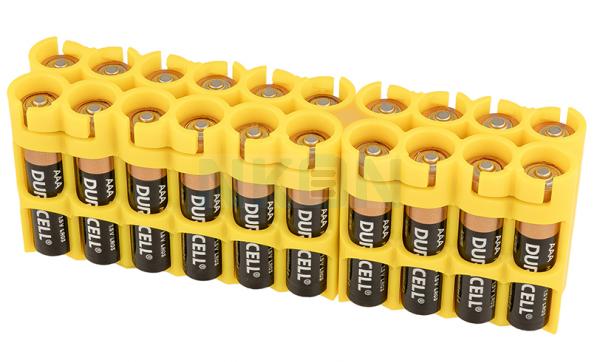 20 AAA Powerpax Battery Case - Yellow