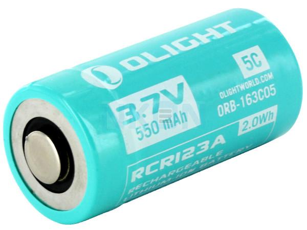 Olight RCR123A - 550mAh
