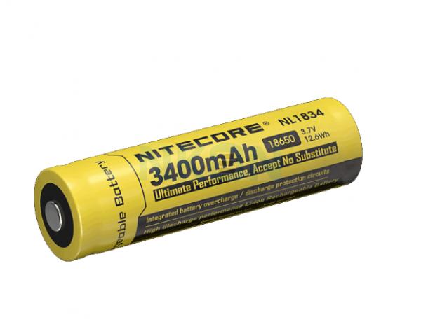 Nitecore 18650 NL1834 3400mAh (protected) - 4A