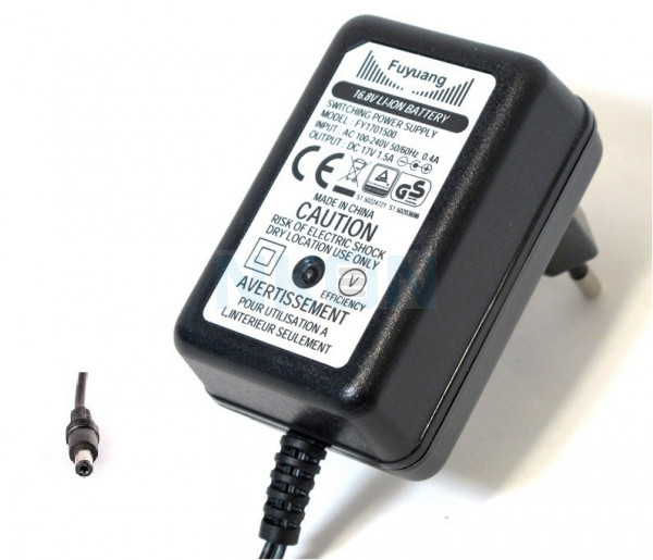 Enerpower 16.8V 4S DC-plug E-bike battery charger - 1.5A
