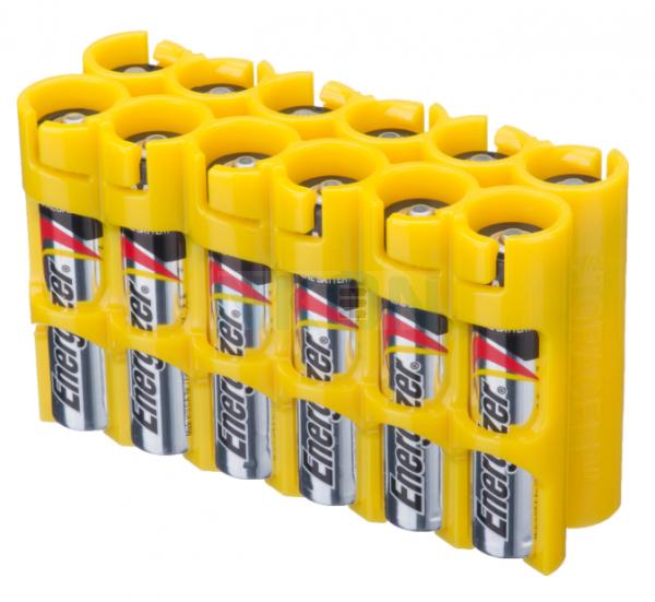 12 AAA Powerpax Battery case - Yellow