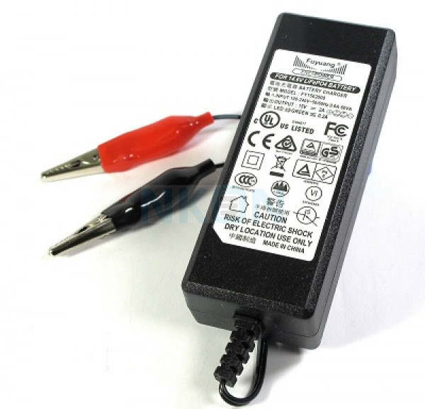 Enerpower / Fuyuang 14.6V DC plug LiFePo4 battery charger - 2A