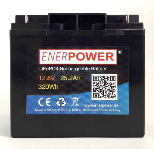 Enerpower 12.8V 25.2Ah - LiFePo4 (replacement of lead battery)