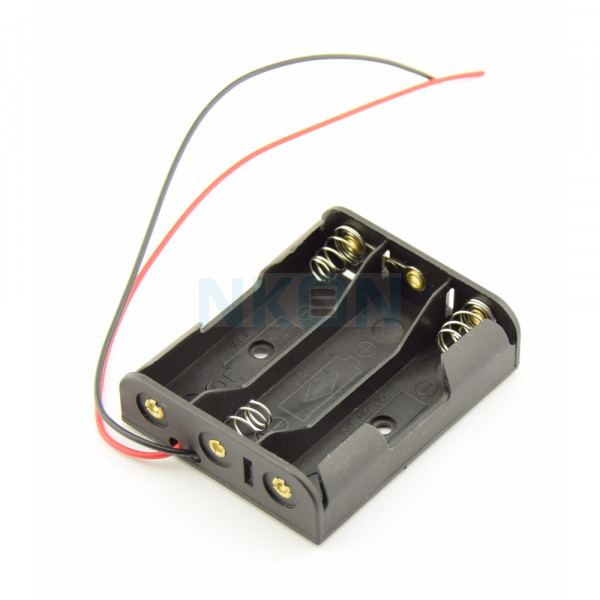 3x AA battery holder with wires
