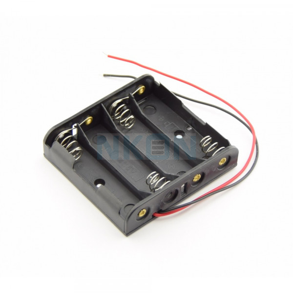 4x AA Battery holder with wires