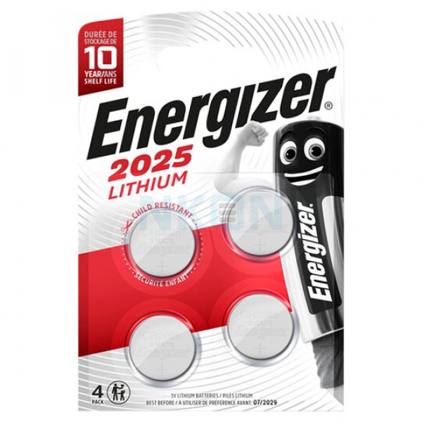 4x Energizer CR2025 - 3V