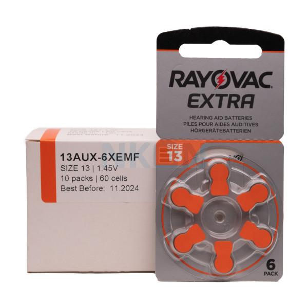 60x 13 Rayovac Extra hearing aid batteries