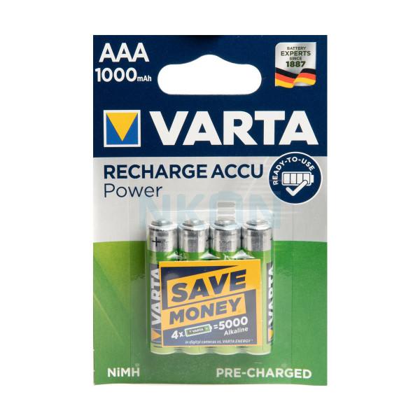 4 AAA Varta Recharge Accu Power - 1000mAh