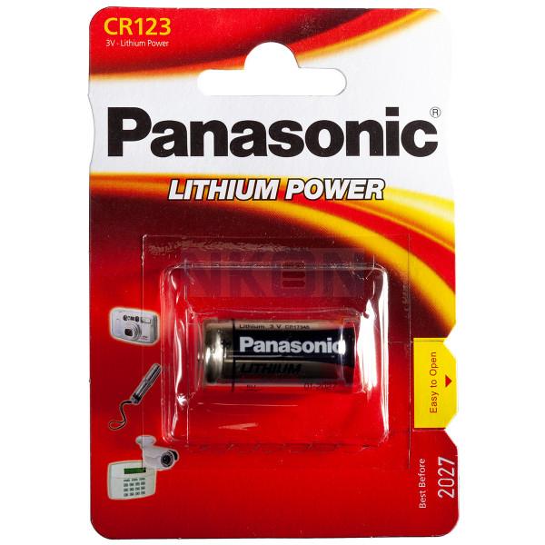 5 x Panasonic CR123 CR17345 CR123A Lithium Photo Batterie 3V im Blister