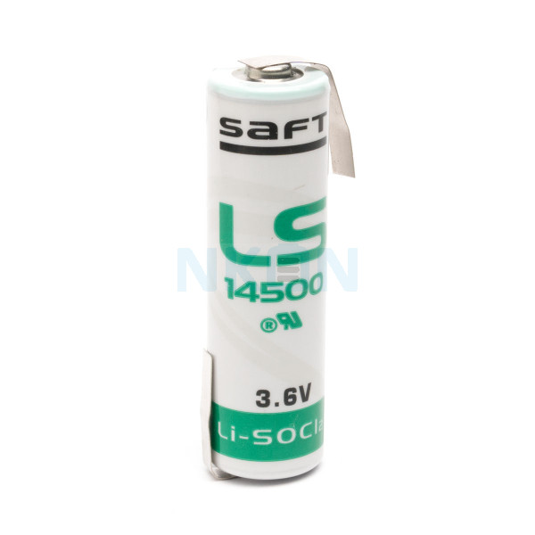 SAFT LS14500 / AA  Lithium with Z-tags - 3.6V