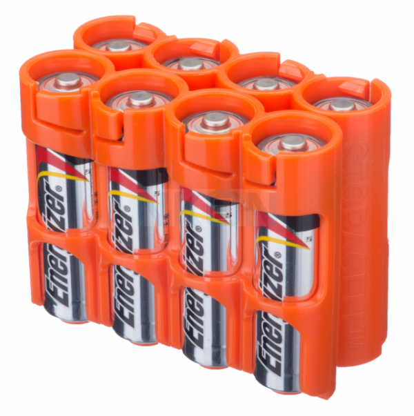 8 AA Powerpax Battery case - Orange
