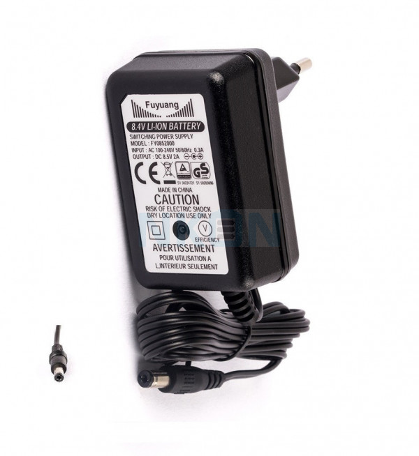 Enerpower 8.4V 2S DC-plug E-bike battery charger - 1.8A