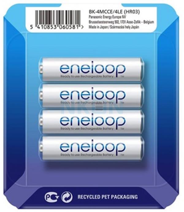 4 AAA Eneloop - sliding blister - 750mAh