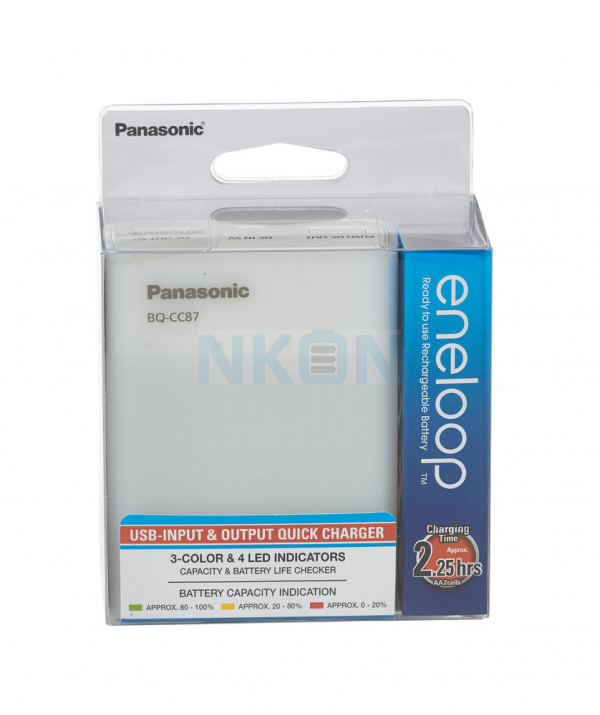 Panasonic Eneloop BQ-CC87 battery charger + 4 AA Eneloop (1900mAh)