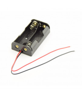 2x AA Battery holder with wires