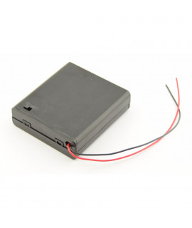 4x AA Battery case with wires and switch