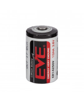 EVE ER14250/ 1/2AA Lithium battery  3.6V (Not rechargeable)