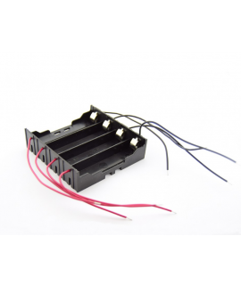 4x 18650 Battery holder with terminal contacts and loose wires