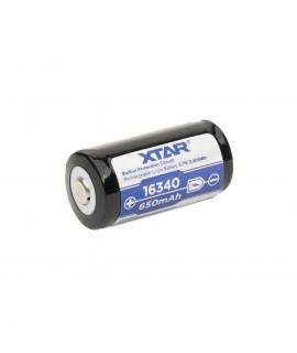 XTAR 16340 650mAh (protected) - 1.2A