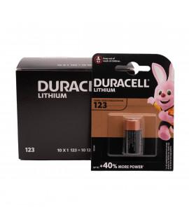 10x CR123A Duracell Lithium - blister - 3V
