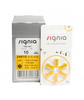 60x 10 Siemens Signia hearing aid batteries