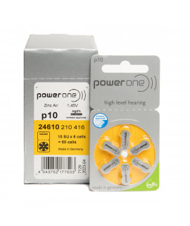 60x 10 PowerOne hearing aid batteries
