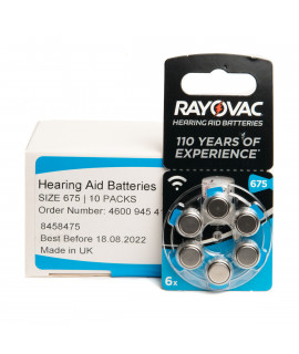 60x 675 Rayovac Acoustic Special hearing aid batteries