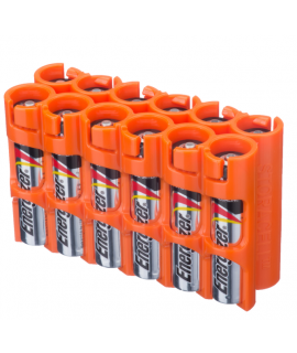 12 AAA Powerpax Battery case - Orange