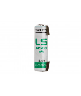 SAFT LS14500 / AA  Lithium with U-tags - 3.6V
