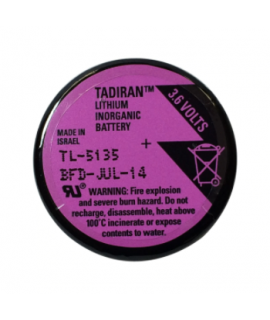 Tadiran TL-5134 / 1/10 D Lithium battery with 3 solder pins